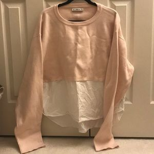 Baby pink sweatshirt